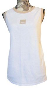 Mossimo Supply Co. New Plus-size Size 24 Top White & Tan