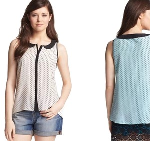 Kensie Polka Dot Girly Dot Top Cream