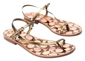 Coach Resort Metallic Bronze Sandals