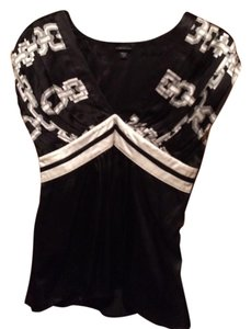 bebe Top Black and White, Black and Cream