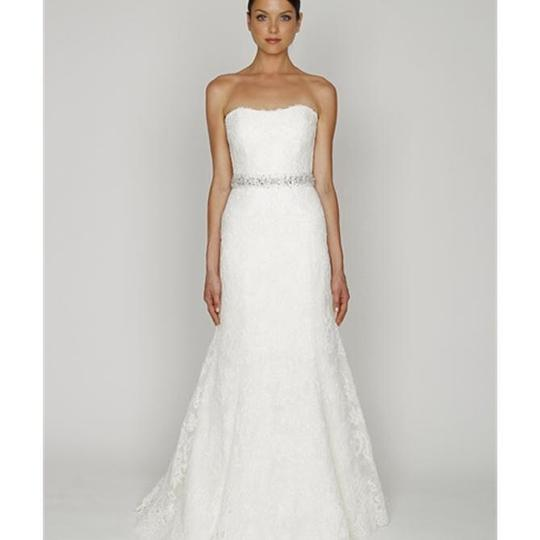 Monique Lhuillier Ivory Reembroidered Lace Bl1208 Traditional Wedding Dress Size 2 (XS)