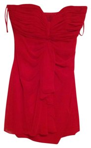 Bonwit Teller Ruched Mini Silk Dress