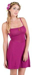 Modcloth short dress Magenta Tank Summer on Tradesy