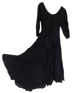 Black Maxi Dress by Just Cruising Boho Bohemian Hippie Gypsy