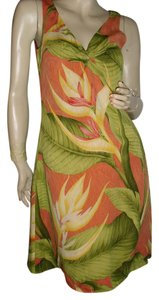 Tommy Bahama short dress green, orange on Tradesy