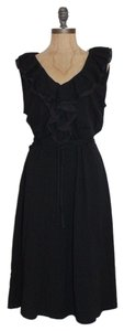 Lauren Ralph Lauren short dress BLACK Ruffle Stretchy on Tradesy