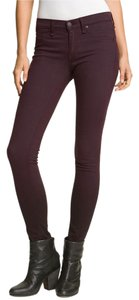 Rag & Bone Legging Denim Plush Skinny Jeans-Dark Rinse