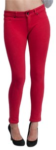 Denimocracy Pants Cherry Red Leggings