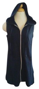 Nautica New Nautica Blue swim hoodie resort Coverup cotton zip XS