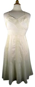 Theory short dress ivory Cotton Spaghetti Strap on Tradesy