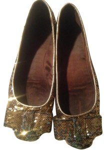 Kate Spade Gold/silver Flats