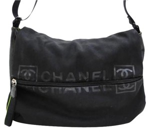 Chanel Crossbody Reporter Black Messenger Bag