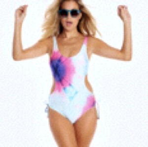 Wildfox WILDFOX MERMAID DYE MONOKINI SZ S NEW