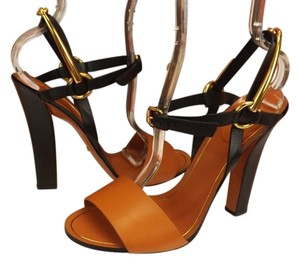 Gucci Black/Rust Sandals