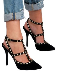 Dollhouse Rockstud Rock Stud Studded Black Pumps
