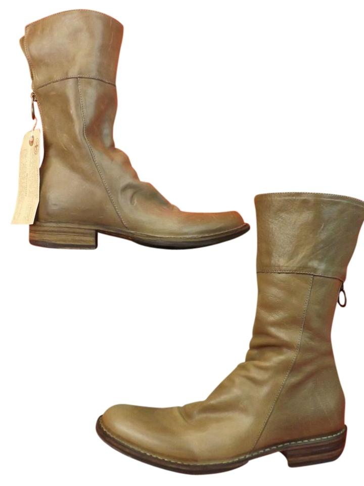 727fa9d62 Fiorentini + Baker Cusna Ice Ella Eternity Taupe Gray Leather Back Zip Boots  Booties