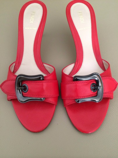 Fendi CORAL-RED Sandals