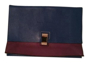 Proenza Schouler colorblock purple blue Clutch