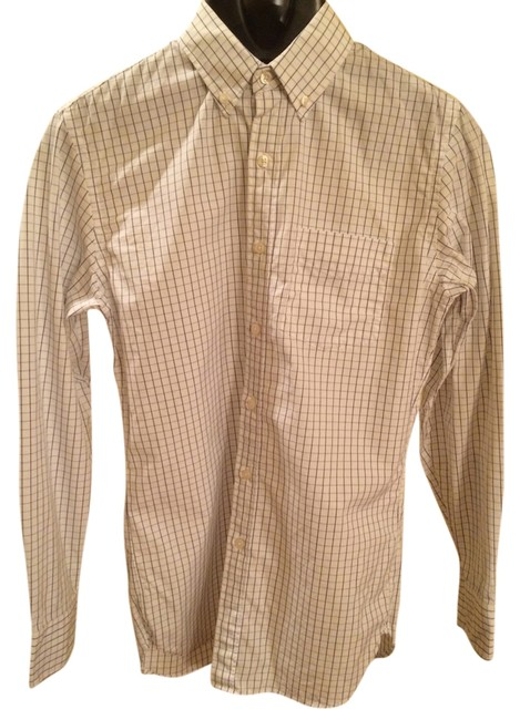 J.Crew Button Down Shirt White With Blue Check