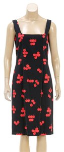 Moschino short dress Black/Red on Tradesy