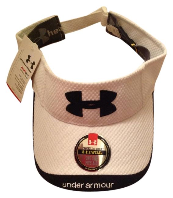 Item - White/Black Heatgear Visor Hat