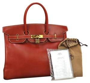 Hemes Tote in Red