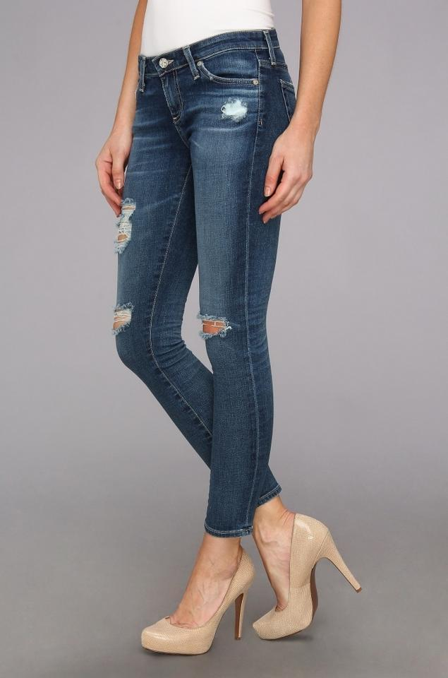 337e411ac7ddc7 AG Adriano Goldschmied Blue Distressed Legging Ankle 11 Years Swap ...