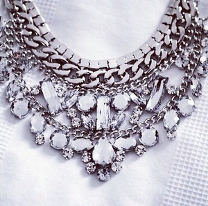 Crystal Rhinestone Adjustable Bib Necklace