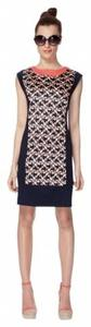 The Webster at Target short dress Blue and Coral Art Deco on Tradesy