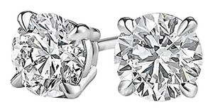 LoveBrightJewelry Push Back White Gold Natural Diamond Studs For Her