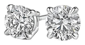 LoveBrightJewelry 4 Prong Set Diamond Stud Earrings in 14K White Gold