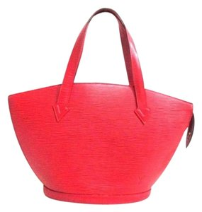 Louis Vuitton Neverfull Epi Tote Luco Satchel in Castiglione Lian Red
