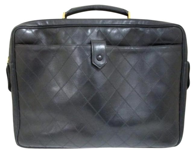 Item - Quilted Luggage 205250 Black Leather Weekend/Travel Bag
