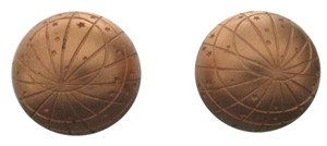 Hermès Gold Globe Earrings 205299