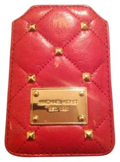 Preload https://item2.tradesy.com/images/michael-kors-red-quilted-studs-leather-iphone-case-in-tech-accessory-171356-0-0.jpg?width=440&height=440
