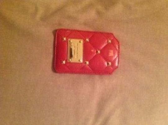 Michael Kors NWT Michael Kors Quilted Studs Leather Iphone Case in Red