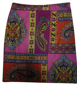 Linda Segal Skirt Pink, Yellow, Turquoise