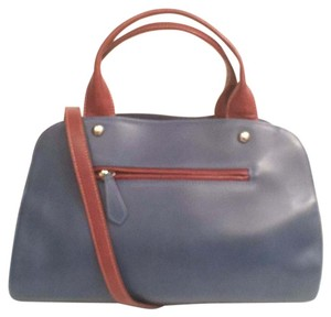 Nardelli Leather Nwot New Cross Body Satchel in Blue Brown