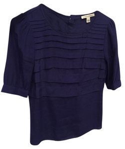 Banana Republic Wear To Work Tiered Top Blue