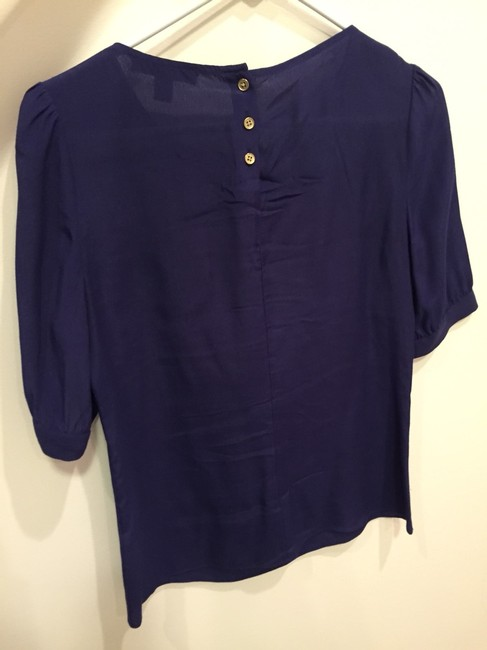 Banana Republic Wear To Work Tiered Tiered Br Top Blue
