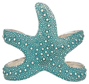 Other Turquoise Starfish Silver Cuff Bracelet Bangle