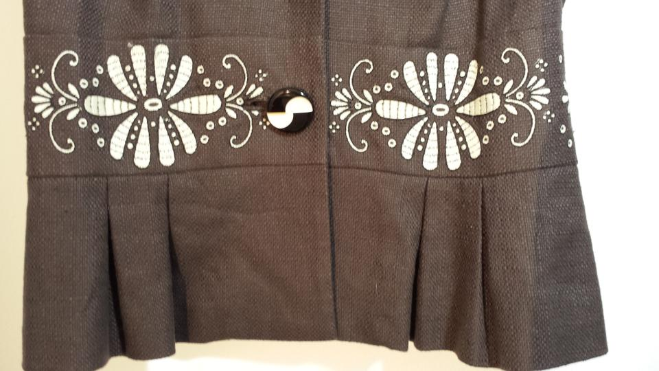 Anthropologie (4) Embroidered-linen Ships Next Day Blouse Size 4 (S) 82%  off retail