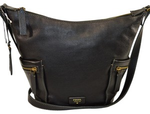 Fossil Leather Crossbody Hobo Bag