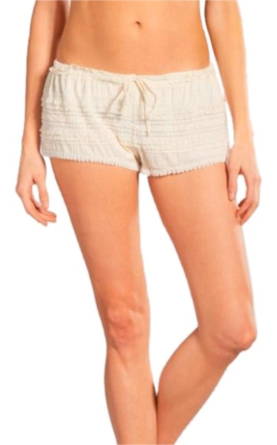 Item - Cream Danielle Lace Shorts Cover-up/Sarong Size 8 (M)