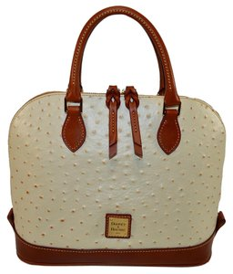 Dooney & Bourke Zip Zip Leather Satchel in Pearl