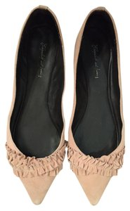 Elizabeth and James Pointed Toe Pink Suede Light Pink Flats