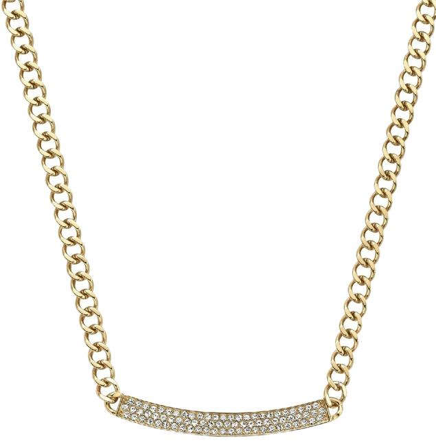 Item - Yellow Gold Tone Reversable Logo Cz Plated (Mkj3354710) Necklace
