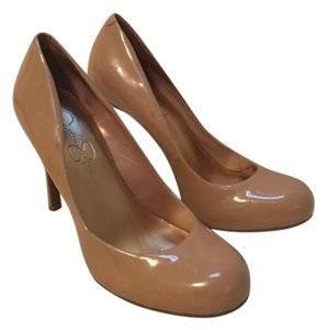 Jessica Simpson Patent Leather Stiletto Wedding Party Classic Nude Pumps