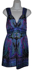 Alice & Trixie Silk Paisley Date Surplice Dress