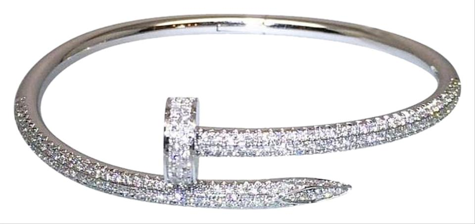 f29c5c5d7bd7b1 cartier tennis bracelet diamonds images Cartier white gold un clou diamond  18k bracelet tradesy jpg